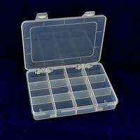 12 Detachable Compartments Clear Plastic Divided Storage Box for Screws