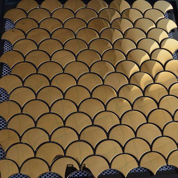 Ls Or Couleur Carrelage Mosaïque En Métalécaille De Poisson - Carrelage écaille de poisson