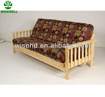 Wjz B75 Folding Solid Wood Frame Sofa Bed For Living Room Furniture