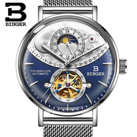 Binger 10002 Mens Watches Top Brand Luxury Automatic Mechanical Watch Business Fashion Sport Sapphire Watches