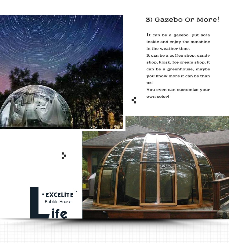 Prefabricated Dome house Used for Office/ Bedroom/ Toilet/Playground / Glamping