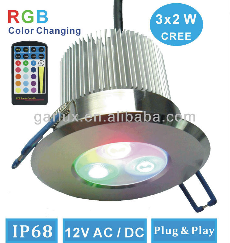 Fire Rated Led Downlights Ip68 Waterproof Color Changing Led ...