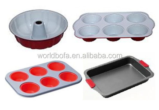 Oval spring form cake baking pan non stick carbon steel material