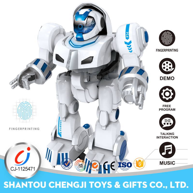 Hot sales kids battery operated rc plastic intelligent robot toy