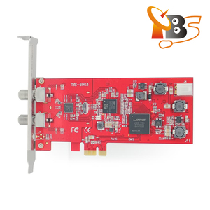 TBS6903 Professional DVB-S2 Dual Tuner PCIe Card supports CCM ACM VCM Multi Input Stream 16APSK 32APSK