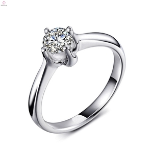 Silver Cz Cubic Zircon White Gold Women Finger Engagement Ring