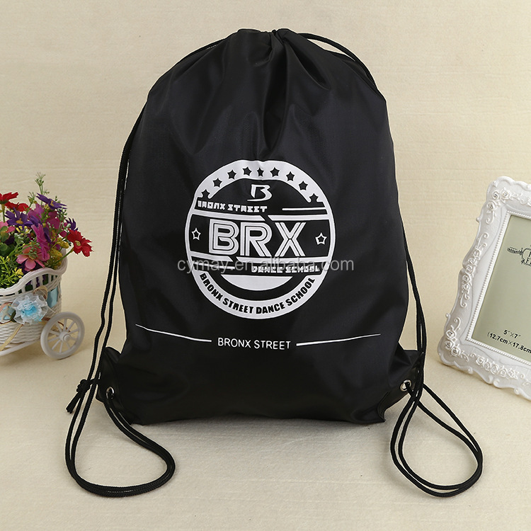 Manufactur high quality custom portable <strong>nylon</strong> polyester drawstring bag