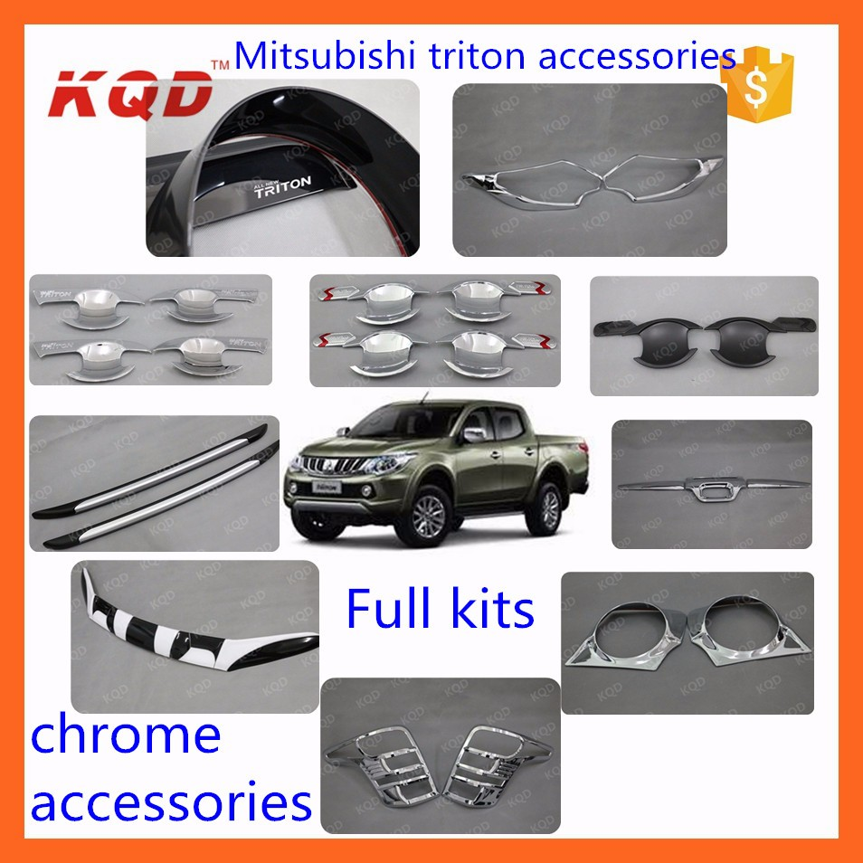 New Mitsubishi Pickup 2016 4 Door Side Body Molding For Fog Lamp Triton Complete Accessories 2015