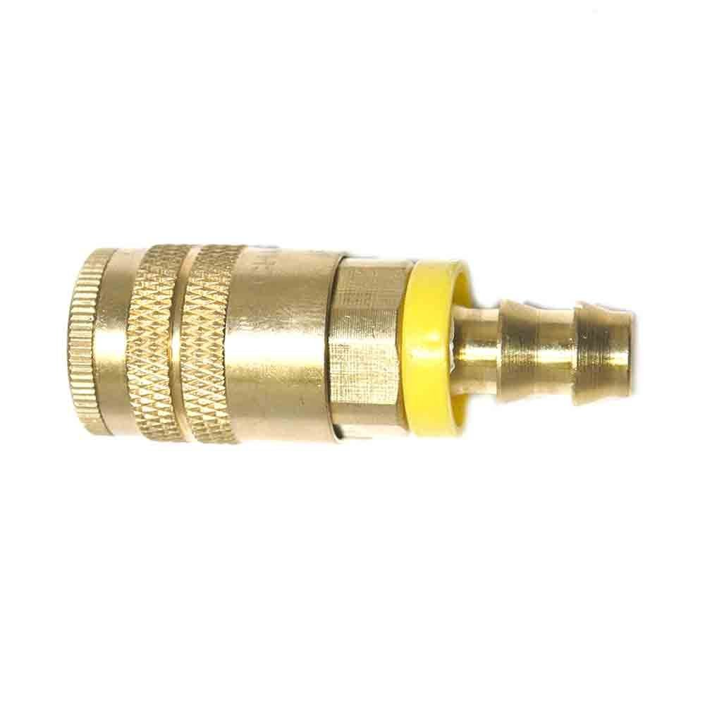 "Interstate Pneumatics CH465B 1/4"" Industrial Coupler x 3/8"" Easy-Lock (Brass)"