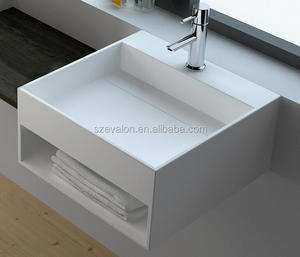 Factory price Corians solid surface wash basin with CUPC,acrylic solid  surface resin bathroom sinks