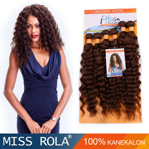 Deep curly tiny curly for black women 100 kanekalon fiber 6 pcs in one bag 14'' 16'' 18'' #1b #2 #4 #27 #30 ombre color