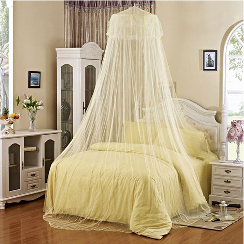 Baby Mosquito Net Baby Toddler Bed Crib Canopy Netting Round Lace Princess Mosquito Net