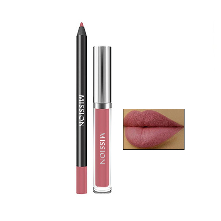 Long Lasting Lip Liner Matte Lipstick Crayon Pencil and Lip Gloss