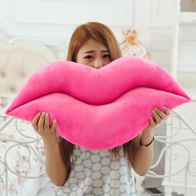 rot und rosa lippen kissen emoji pers nlichkeit pp. Black Bedroom Furniture Sets. Home Design Ideas