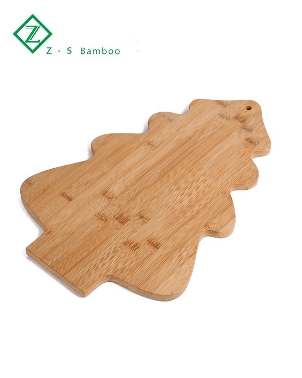 Tree shape tray bamboo cutting board / chopping board