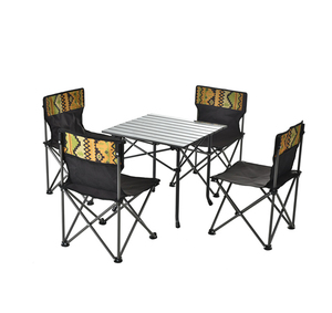 Beach BBQ Use Wholesale folding chairs and folding table set 5 picecs China