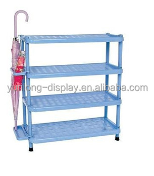 DIY 4 Layer Folding Plastic Shoe Rack/shoes Display Rack
