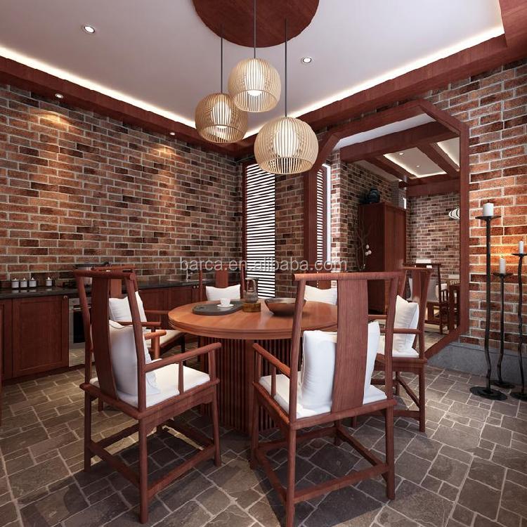 alten stil 3d ziegel tapete waschbar tapete f r badezimmer. Black Bedroom Furniture Sets. Home Design Ideas