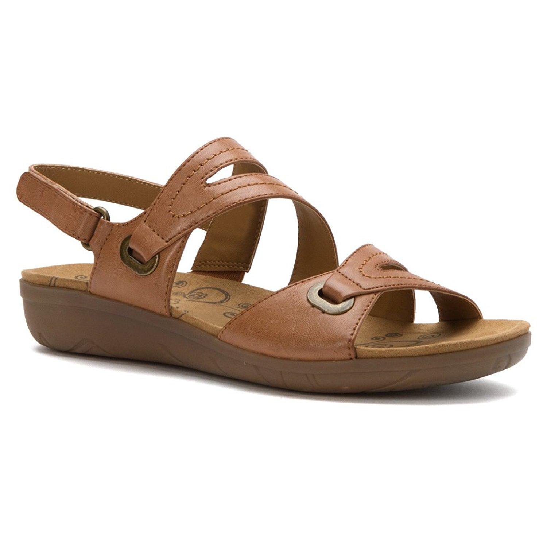 4e9d2b6138f Get Quotations · BareTraps Bare Traps Womens Jevin Open Toe Casual Ankle  Strap Sandals