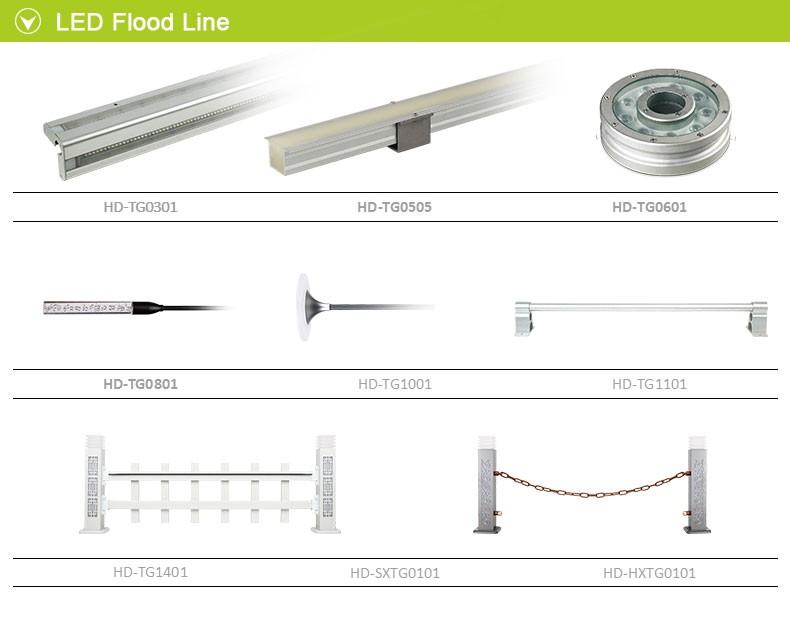 Ip68 6-12w 500mm/1000mm Linear Led Underwater Light