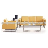 China manufacturer modern hot selling sofa set with brushed stainless steel leg