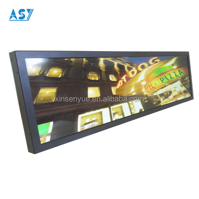 Tube route line bus indoor advertising lcd signboards stretched display