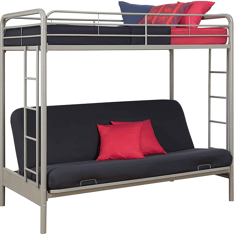 Queen Over Size L Shaped Futon Bunk Bed