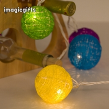 Wholesale Direct Bulk Handicraft Wedding Cotton Led Ball String Light