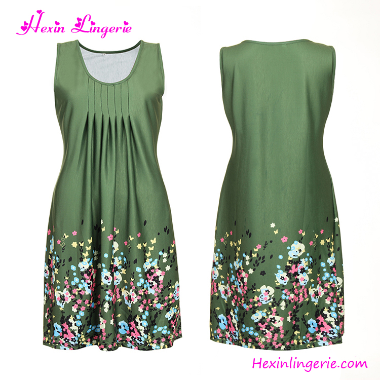 USA Warehouse Delive Green clothing turkey mature <strong>women</strong> cotton dresses for <strong>women</strong>