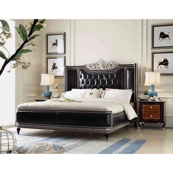 Low-key Luxury Black Leather Bed. Cool Bedroom Furniture - Buy Luxury  Wooden Bedroom Furniture,Luxury Black Leather Bedroom Furniure,Bedroom  Furniture ...