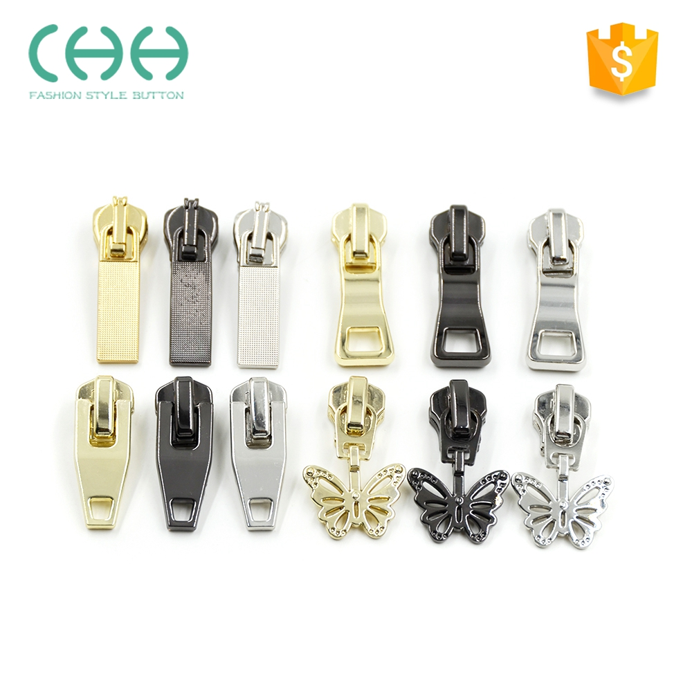 Superior quality jacket metal zipper slider with lock hole