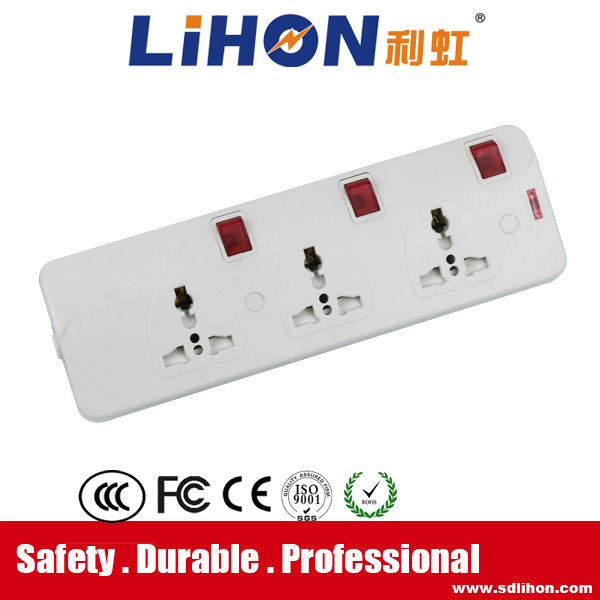 China 3 Way Electrical Extension Socket, China 3 Way Electrical ...