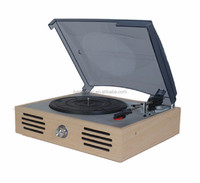 DS-106 in Wooden Retro Radio Player Recorder & Vinyl Turntable Player