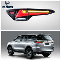 VLAND factory accessory for Car tail light for Fortuner taillight 2017-UP for Fortuner tail lamp LED light moving turn signal