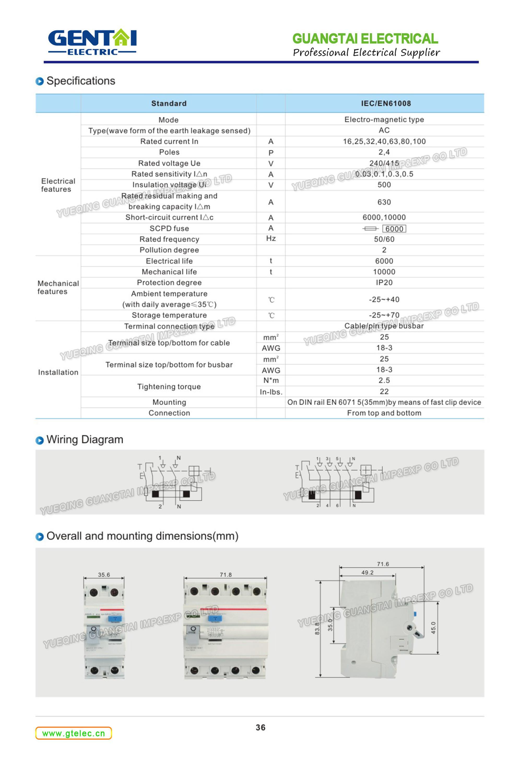 Circuit Diagram Of Rccb Mini Breaker Dz47le63 China Electronic Good Quality Earth Leakage Breakerresidual Current