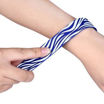 Custom Design Silicone Snap Bracelet Rubber Bracelets