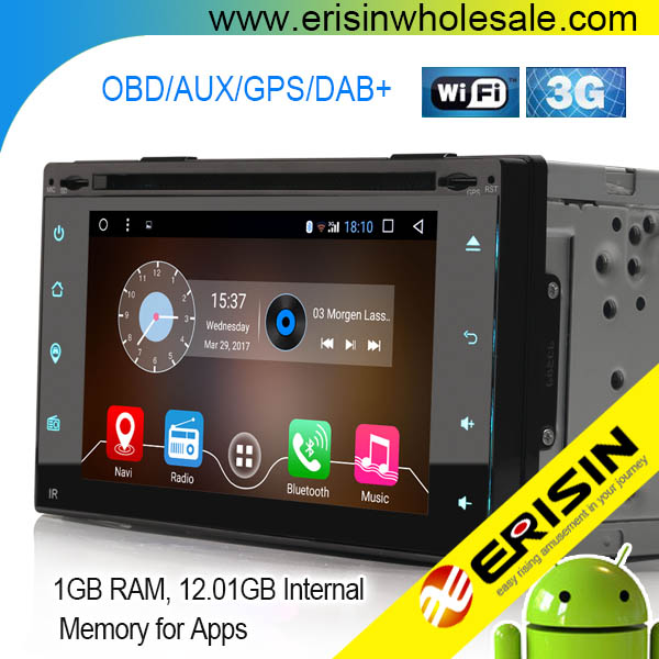 "Erisin ES5395U 6.2"" 2din NEW Android 6.0 4 core universal car dvd auto radio with GPS DAB+ DTV DVR 3G WIFI"