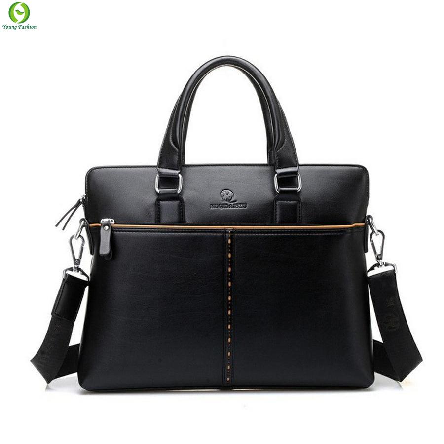 Get Quotations · new 2015 Fashion business leather man bag men messenger  bags men s travel bags leather briefcase bolsas 5fa1d24132