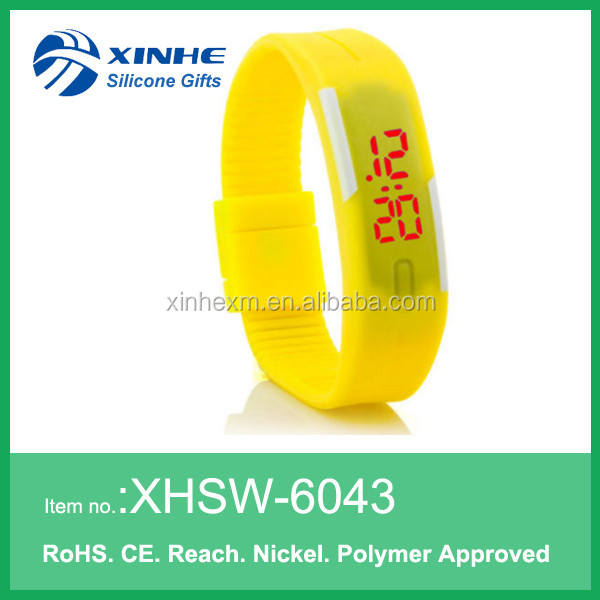 Wholesale silicone LED scientific digital atomic watch