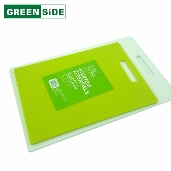 Eco-Friendly customized colors convenient large plastic cutting board