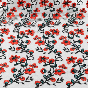 2017 black mesh red plum blossom fancy design african net laser cut indian bridal lace fabric