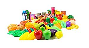 Plastic Pretend Play Food Value Pack For Kids 3 Mulitcolored Kitchen Collection Large