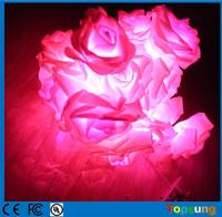 christmas decoration pink soft rose led decor lamp battery operated string light
