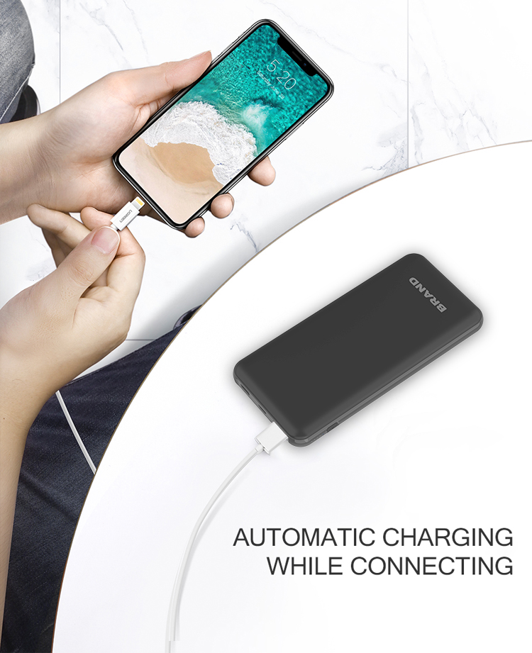 output 12V quick charge 18W polymer battery powerbank 10000 mAh with USB Type C