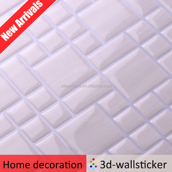 Marble Tile Adhesive Sticker Paper Decoration For Bathroom Wall Art