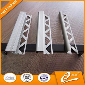 Right Angle Aluminum Ceramic Tile Trim For Wall Corner