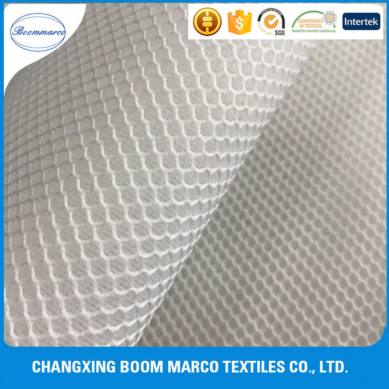 wholesale polyester cheap 3d spacer/air mesh Hexagon fabric sandbeach chair/ shoes upper 230gsm