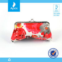 Promotion bright-coloured fashion design lady wallet