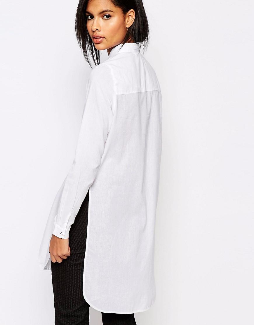 931c0262095 2016 últimos diseños de moda Coreana de manga larga blusa de largo camisa  blanca para mujeres