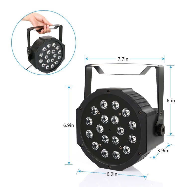 18x1W Battery Powered Wireless Par Light Rechargeable Led Stage Lighting